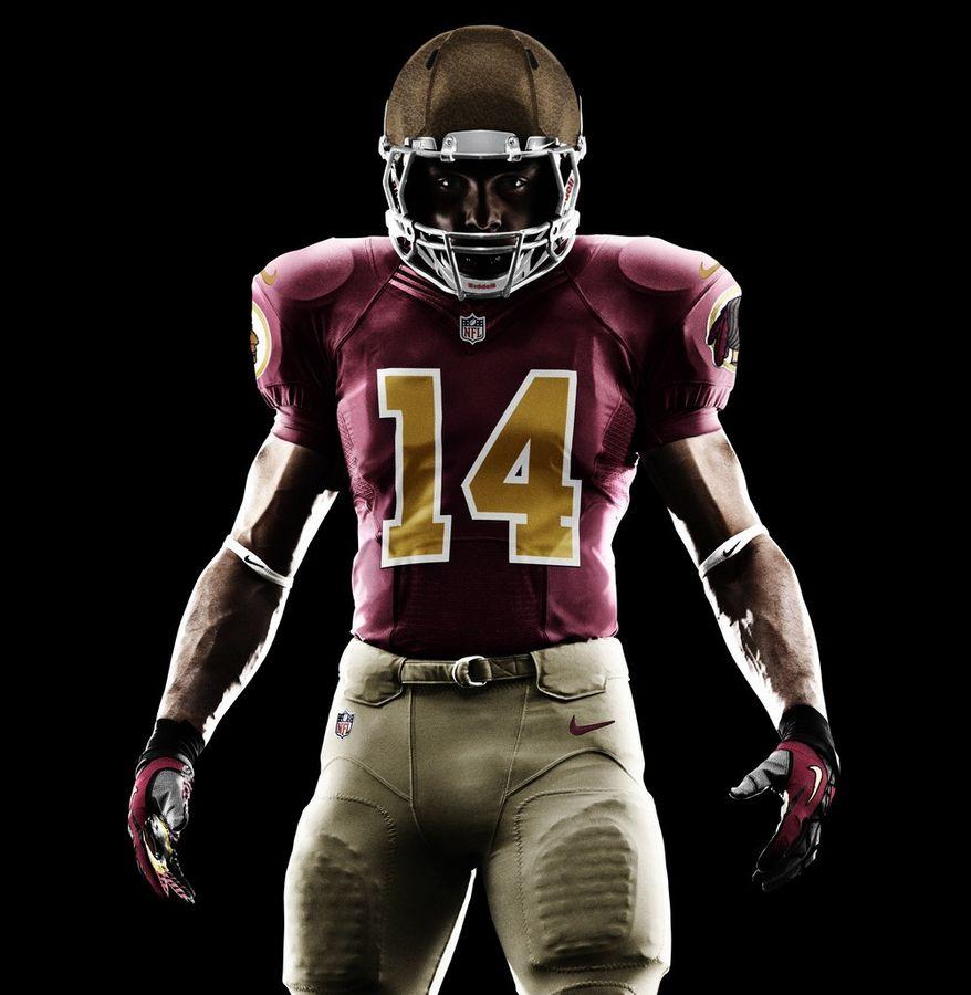 Redskins throwback uniform to be worn Nov. 4 vs. the Carolina Panthers. (Courtesy of the Washington Redskins)