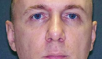 Donnie Roberts, a Louisiana parole violator, was executed by lethal injection in Texas on Wednesday, Oct. 31, 2012, for killing his girlfriend in 2003. (AP Photo/Texas Department of Public Safety)