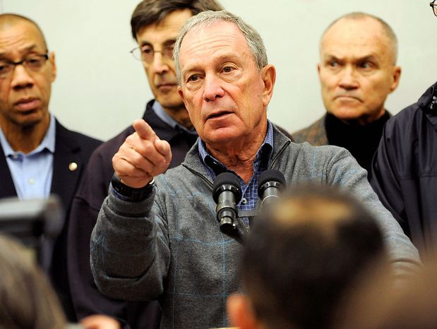 New York Mayor Michael R. Bloomberg (AP Photo/Louis Lanzano)