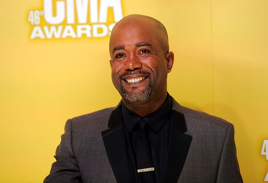 Darius Rucker arrives at the 46th Annual Country Music Awards at the Bridgestone Arena on Thursday, Nov. 1, 2012, in Nashville, Tenn. (Photo by Chris Pizzello/Invision/AP)