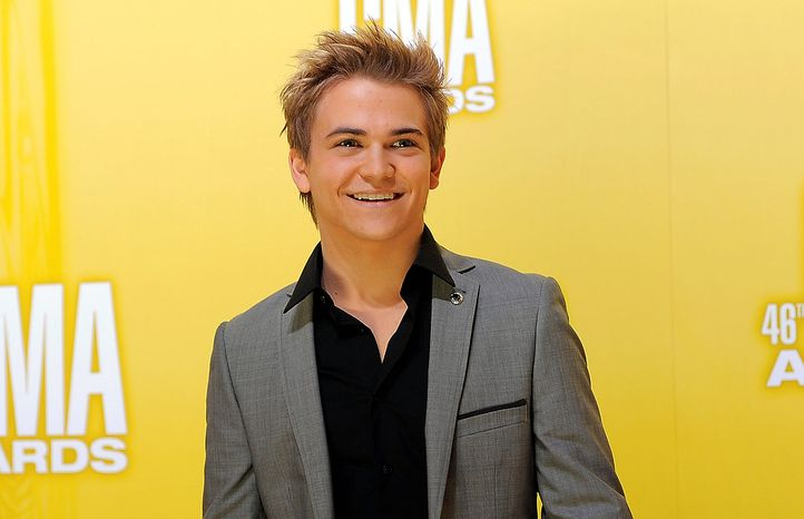 Hunter Hayes arrives at the 46th Annual Country Music Awards at the Bridgestone Arena on Thursday, Nov. 1, 2012, in Nashville, Tenn. (Photo by Chris Pizzello/Invision/AP)