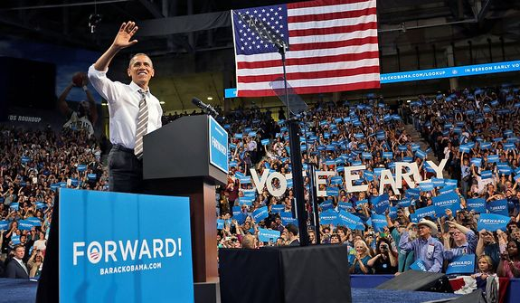 President Barack Obama speaks during a campaign event at the University of Colorado - Boulder, Thursday, Nov. 1, 2012 in Boulder, Colo. (AP Photo/Pablo Martinez Monsivais)