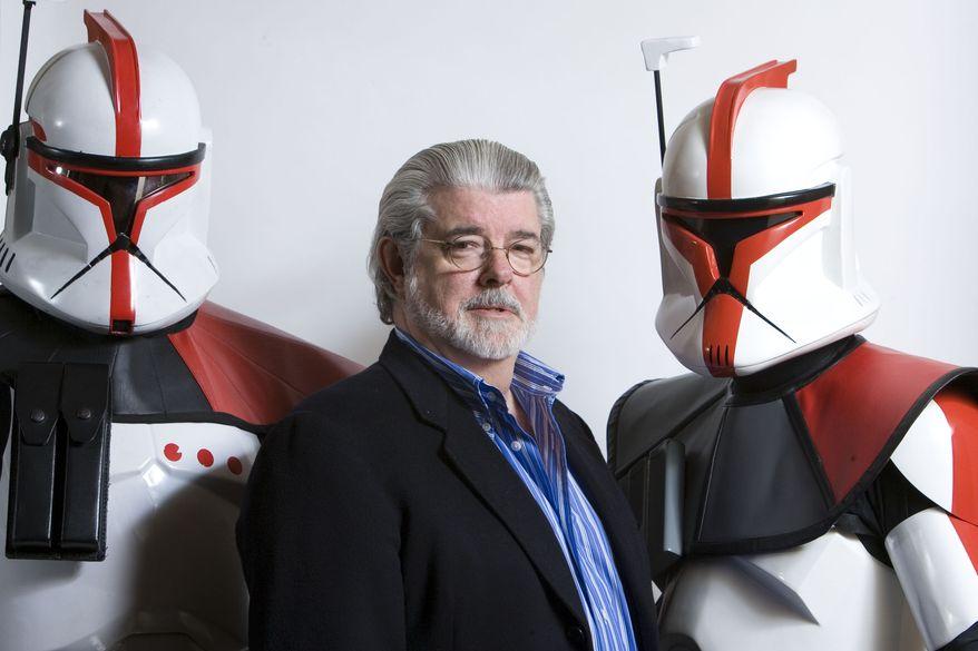 Director-producer George Lucas poses for portrait in Las Vegas in 2008. (AP Photo/Matt Sayles)
