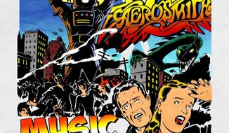 """This album cover image released by Columbia Records shows the latest release by Aerosmith, """"Music from Another Dimension."""" (AP Photo/Columbia Records)"""