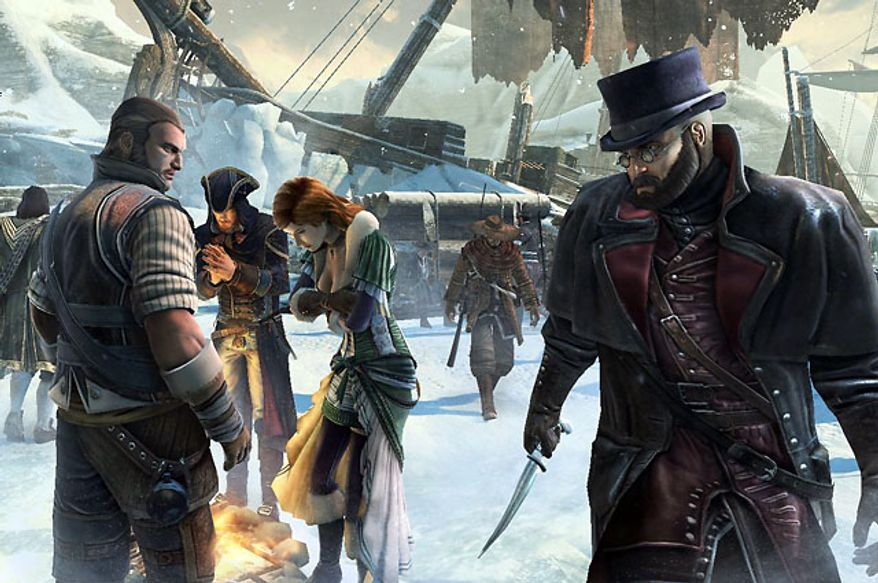It's killer versus killer in the multiplayer part of the video game Assassin's Creed III.
