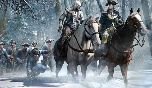 Connor talks about a revolution with George Washington in the video game Assassin's Creed III.