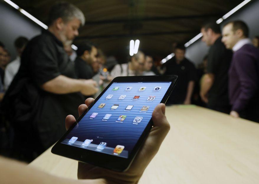 **FILE** The iPad Mini is shown in San Jose, Calif., on Oct. 23, 2012. (Associated Press)