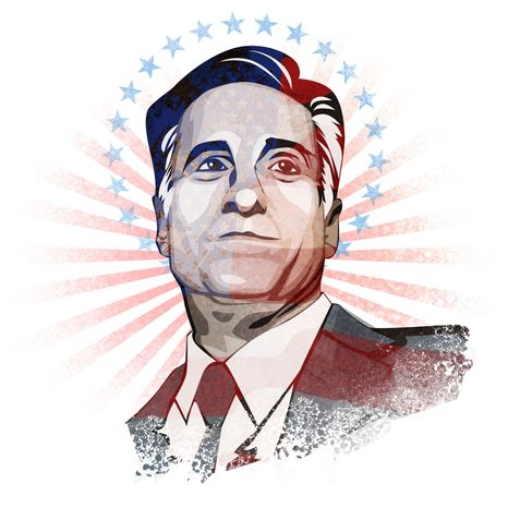 Illustration Mitt Romney by Linas Garsys for The Washington Times