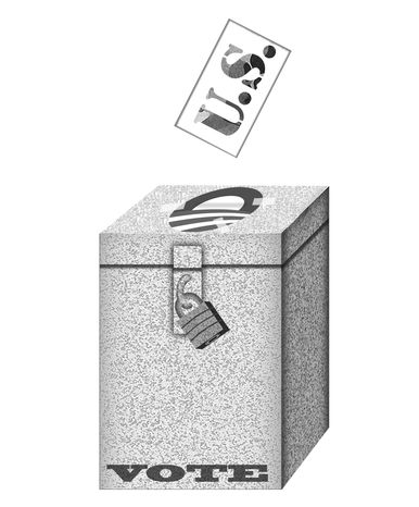 Illustration Military Votes by Alexander Hunter for The Washington Times
