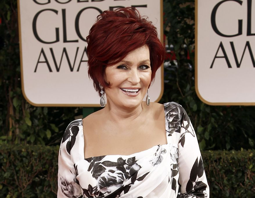 Sharon Osbourne, matriarch of rock's Osbourne clan, attends the 69th annual Golden Globe Awards in Los Angeles on Sunday, Jan. 15, 2012. (AP Photo/Matt Sayles)