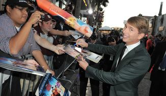 "Actor Jack McBrayer arrives at the world premiere of ""Wreck-It Ralph"" at the El Capitan Theatre in Los Angeles on Monday, Oct. 29, 2012. Mr. McBrayer voices the character Fix-It Felix in the film. (Jordan Strauss/Invision/AP)"