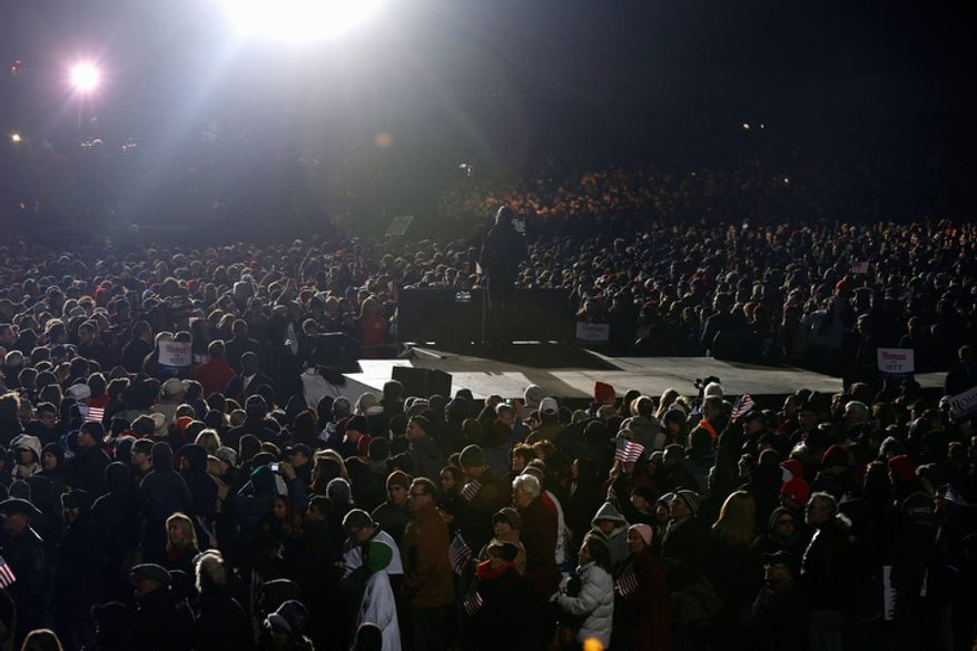 Republican presidential candidate Mitt Romney speaks at a campaign rally at Shady Brook Farm in Morrisville, Pa., on Sunday, Nov. 4, 2012. (AP Photo/Charles Dharapak)