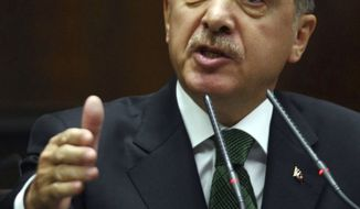 **FILE** Turkish Prime Minister Recep Tayyip Erdogan (Associated Press)
