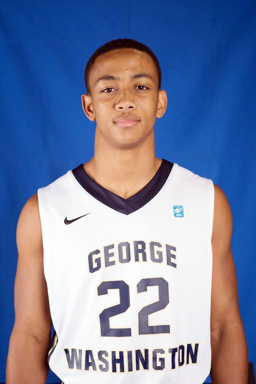 Joe McDonald is a basketball player at George Washington University. (George Washington University Athletics)