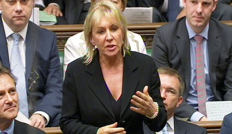 In this photo made from video, Conservative MP Nadine Dorries speaks during a session of Parliament in London in September. She is under suspension by her fellow Tories for her extended absence to take part in a reality-TV program. (Associated Press)