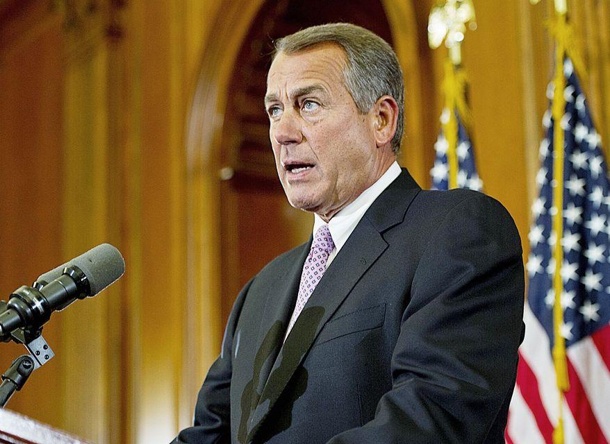 House Speaker John A. Boehner says the GOP will make a deal to let the government collect more tax revenue. (Barbara L. Salisbury/The Washington Times)