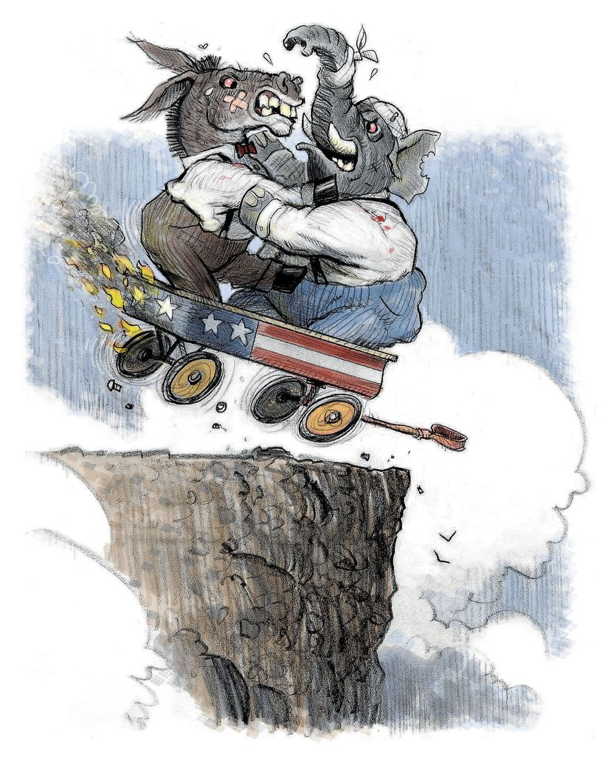 Illustration: Government by Alexander Hunter for The Washington Times