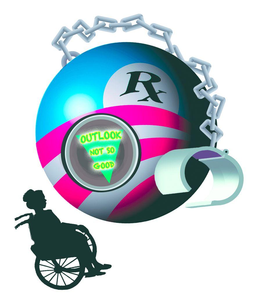 Illustration: Obamacare by John Camejo for The Washington Times