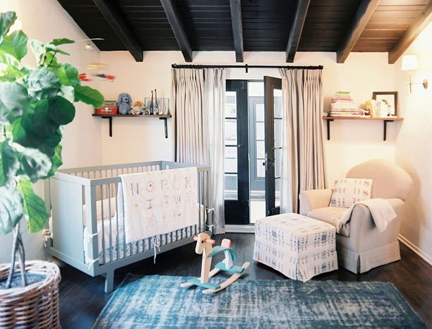 Photograph provided by Megan Blake Design  Designer Megan Blake of Megan Blake Design in the District advises new parents to think about the style and color of the crib, since that usually is the focal point of the nursery.