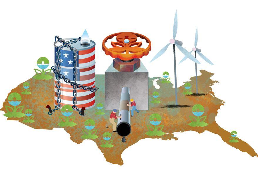 Illustration Environmental Battlegrounds by Linas Garsys for The Washington Times