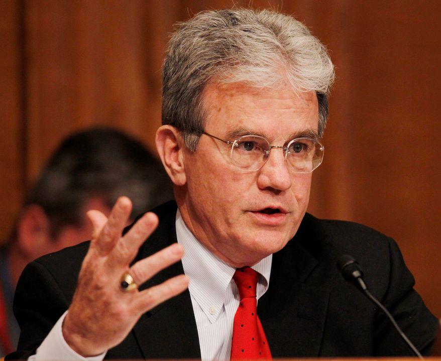 ** FILE ** Sen. Tom Coburn, Oklahoma Republican. (Associated Press)