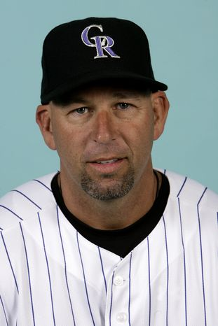 File-This is a 2008 file photo of Walt Weiss of the Colorado Rockies baseball team. Weiss has been hired to replace Jim Tracy as manager of the Colorado Rockies. The team made the announcement late Wednesday Nov. 7, 2012 after owner Dick Monfort and top officials deliberated at the general managers' meetings, held at a hotel Monfort owns. (AP Photo/M. Spencer Green, File)