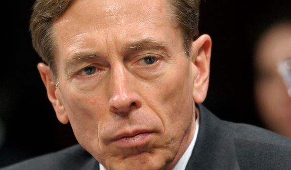 **FILE** CIA Director David Petraeus testifies  Feb. 2, 2012, on Capitol Hill in Washington. (Associated Press)