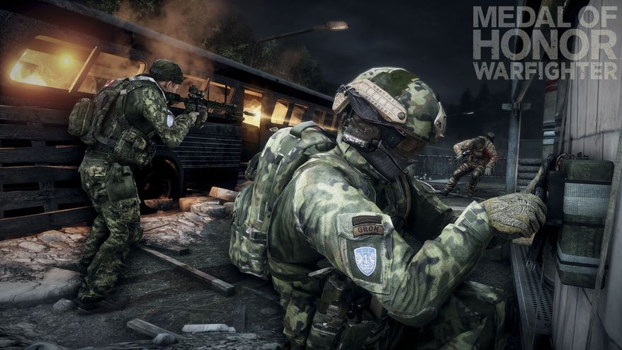 """This product image released by Electronic Arts shows a scene from the video game """"Medal of Honor: Warfighter."""" Seven members of the secretive Navy SEAL Team 6, including one involved in the mission to kill Osama bin Laden, have been punished for allegedly divulging classified information to the maker of the game, senior Navy officials said Nov. 8, 2012. (Associated Press/Electronic Arts)"""
