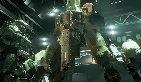 Calimb aboard a mech called the Mantis in the video game Halo 4.