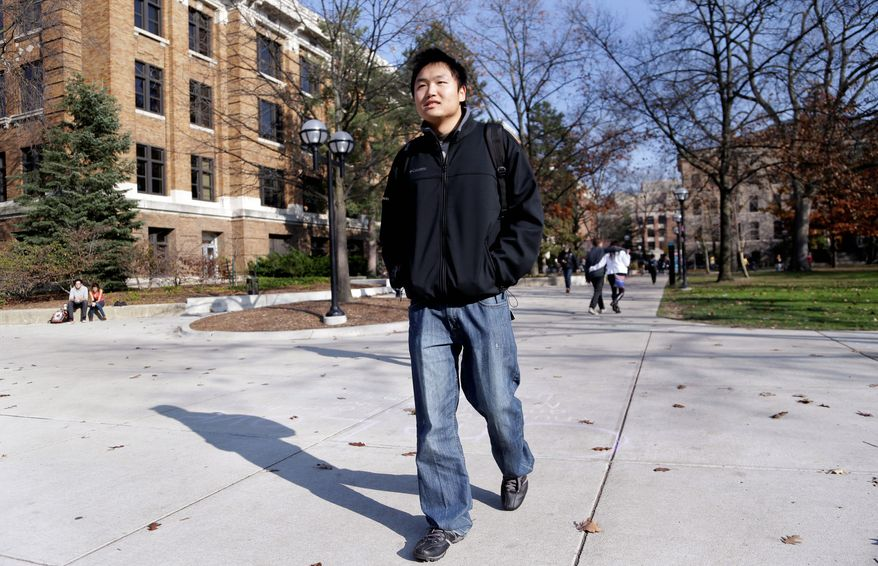 Kedao Wang, of Shanghai, is a senior at the University of Michigan in Ann Arbor. New figures out Monday show international enrollment at U.S. colleges and universities grew by nearly 6 percent last year, driven by a 23-percent increase in students from China. (Associated Press)