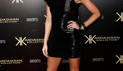 Melissa Rycroft arrives at the Kardashian Kollection launch party in Los Angeles, Wednesday, Aug. 17, 2011. The Kardashian Kollection designed by the Kardashian sisters is available at Sears. (AP Photo/Matt Sayles)
