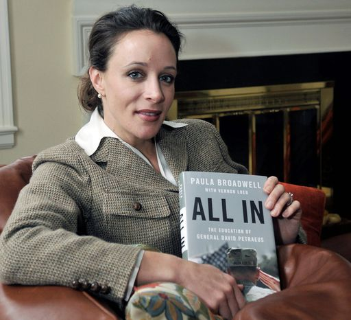 """**FILE** Paula Broadwell, author of the David Petraeus biography """"All In,"""" poses for photos in Charlotte, N.C. (Associated Press/The Charlotte Observer, T. Ortega Gaines)"""