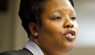 """""""As our schools are currently organized, we can't achieve our goals,"""" D.C. Schools Chancellor Kaya Henderson said Tuesday. (Barbara L. Salisbury/The Washington Times)"""