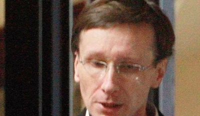 Thierry Tilly, who was sentenced to eight years in prison by a court in Bordeaux, France, on Tuesday, was convicted of used manipulation techniques over nine years to swindle an aristocratic family of 11. (Associated Press)