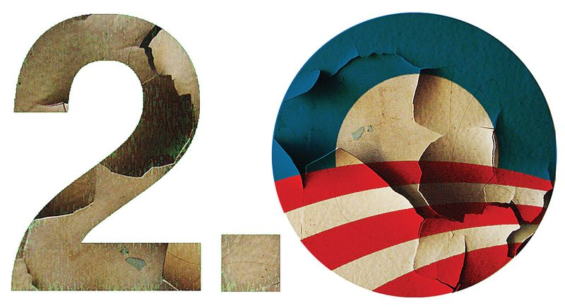 Illustration Obama 2.0 by Alexander Hunter for The Washington Times