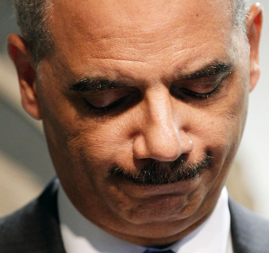**FILE** Attorney General Eric Holder speaks June 28, 2012, during a news conference in New Orleans. (Associated Press)