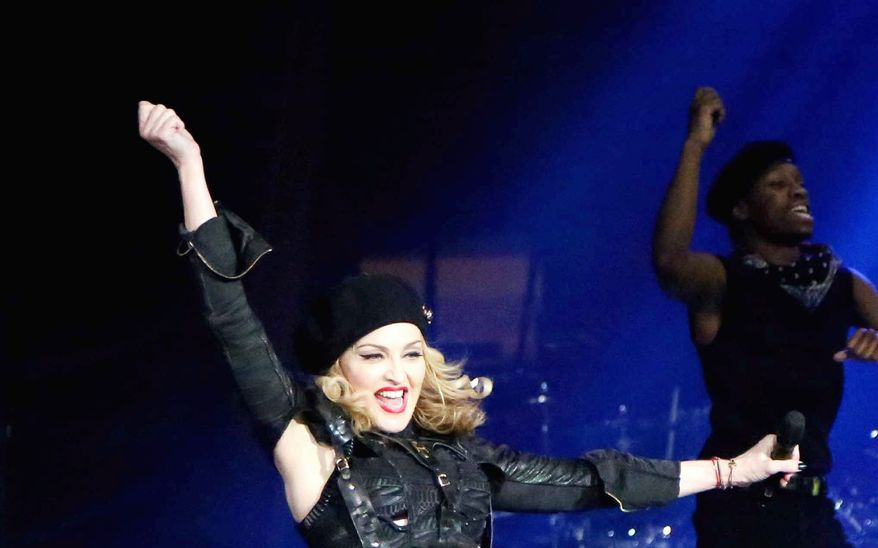 Madonna was joined by Korean pop star PSY during a show at Madison Square Garden on Tuesday.