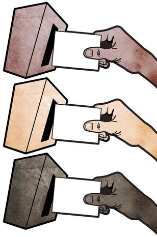 Illustration: Voting by Greg Groesch for The Washington Times