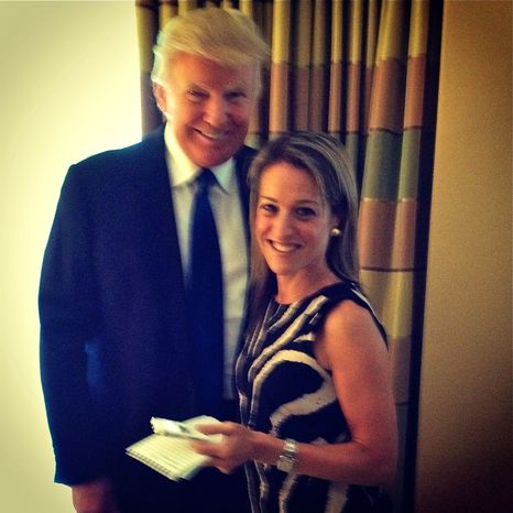 Real estate developer Donald Trump and TWT's Emily Miller