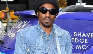 **FILE** Musician and actor Andre Benjamin, better known as Andre 3000, attends a promotional event for Gillette in New York on Nov. 13, 2012. (Evan Agostini/Invision/Associated Press)