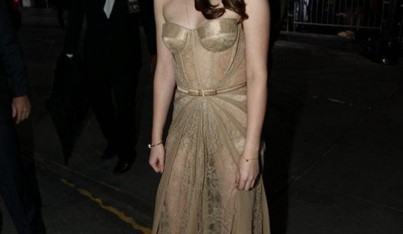 """Kristen Stewart attends the world premiere of """"The Twilight Saga: Breaking Dawn Part 2"""" at the Nokia Theatre on Monday, Nov. 12, 2012, in Los Angeles. (Photo by Matt Sayles/Invision/AP)"""