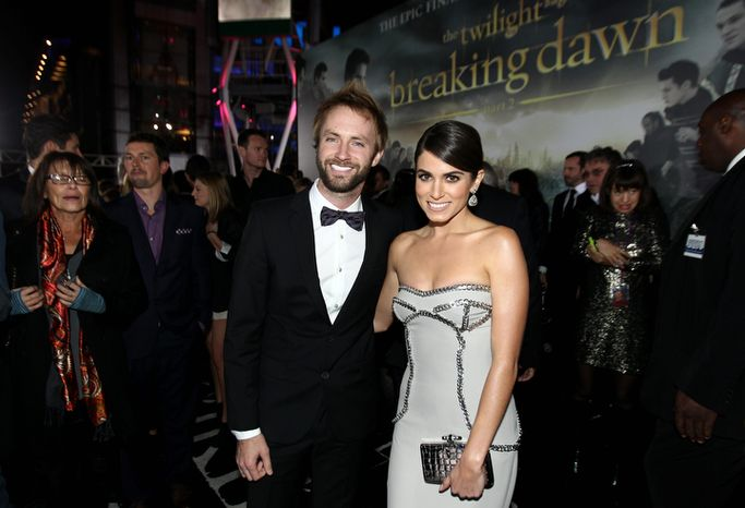 "Paul McDonald, left, and Nikki Reed attend the world premiere of ""The Twilight Saga: Breaking Dawn Part 2"" at the Nokia Theatre on Monday, Nov. 12, 2012, in Los Angeles. (Photo by Matt Sayles/Invision/AP)"