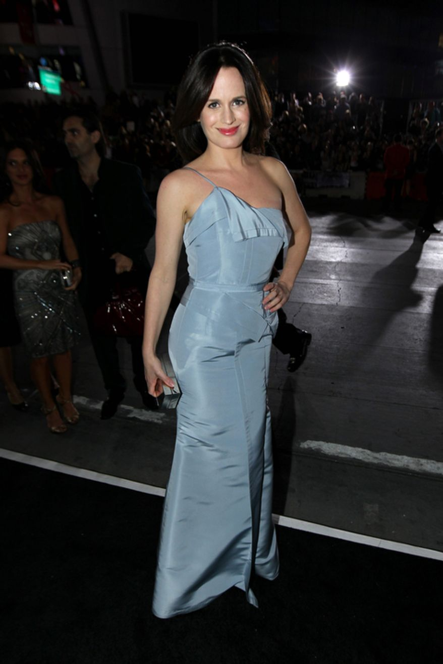 """Elizabeth Reaser attends the world premiere of """"The Twilight Saga: Breaking Dawn Part 2"""" at the Nokia Theatre on Monday, Nov. 12, 2012, in Los Angeles. (Photo by Matt Sayles/Invision/AP)"""