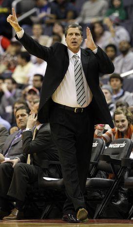 ** FILE ** Washington Wizards head coach Randy Wittman. The Wizards recently released Jannero Pargo to make room for Shaun Livingston. (AP Photo/Ann Heisenfelt)