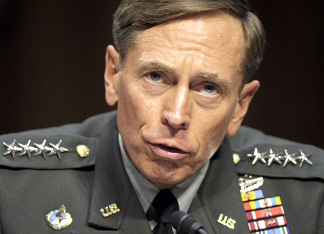 ** FILE ** In this June 23, 2011, file photo, then-CIA Director-designate Gen. David Petraeus testifies on Capitol Hill in Washington. Petraeus has resigned because of an extramarital affair. (AP Photo/Cliff Owen, File)