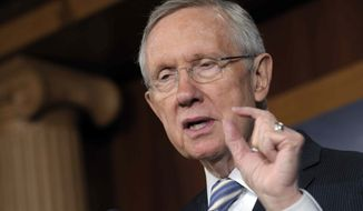 ** FILE ** Senate Majority Leader Harry Reid of Nevada during a news conference on Capitol Hill in Washington, Wednesday, Nov. 7, 2012. (AP Photo/Susan Walsh)