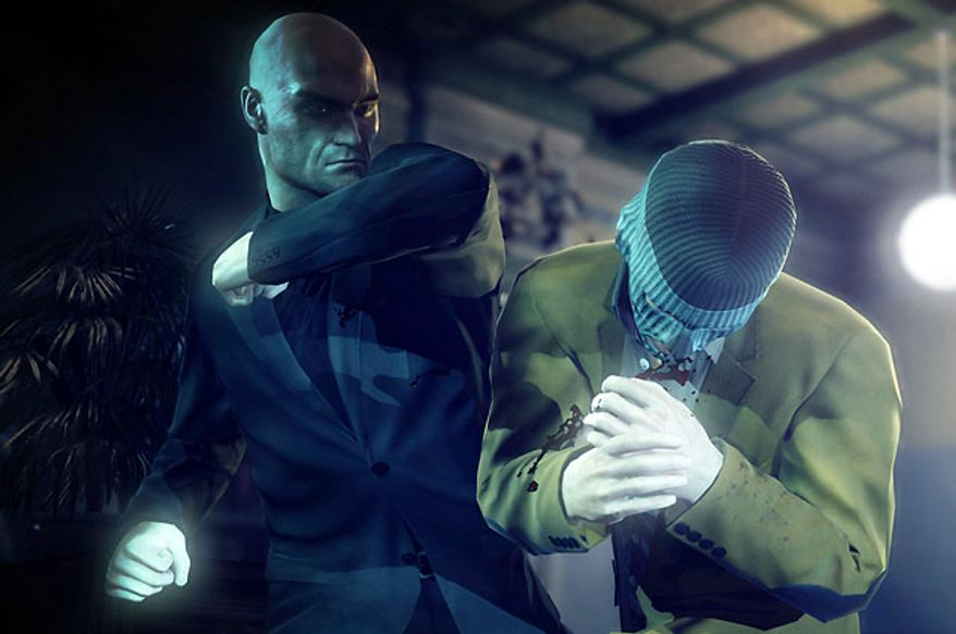Agent 47 can use close combat skills to beat enemies in the video game Hitman: Absolution.