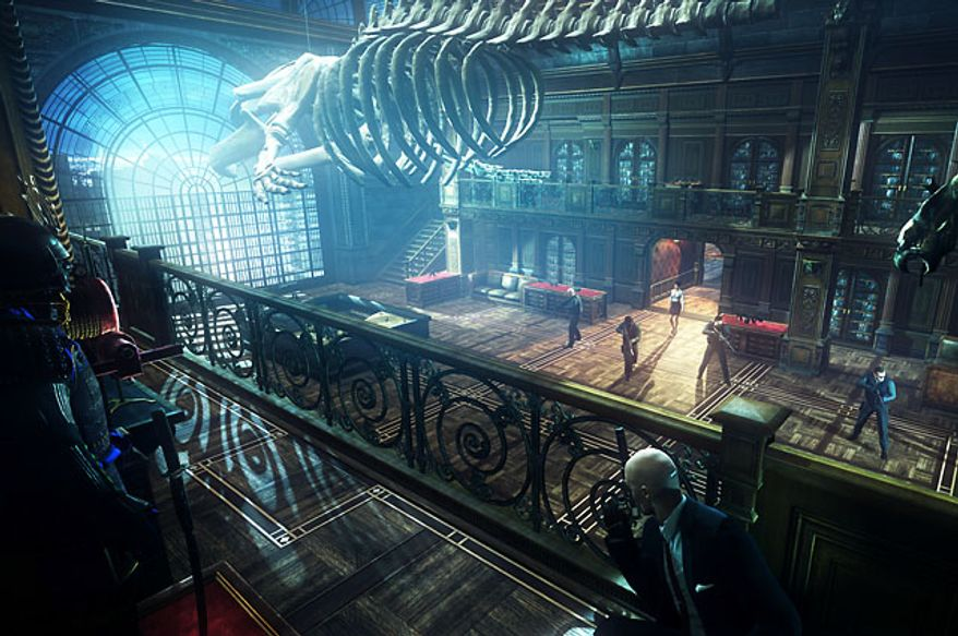That large skeleton looks like a perfect way for Agent 47 to crush enemies in the video game Hitman: Absolution.