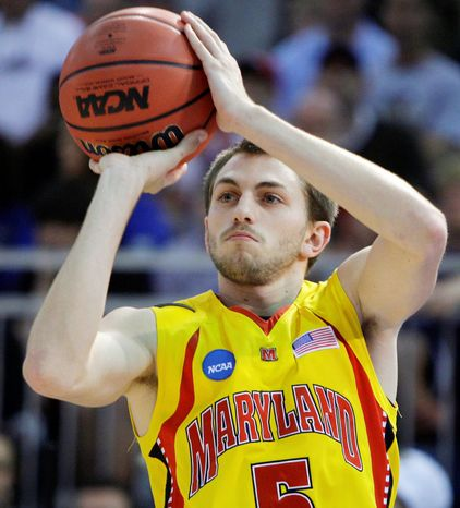 Eric Hayes scored 1,201 points at Maryland from 2006 to 2010, good for 31st on the school's all-time list. Now he's serving as a graduate assistant. (Associated Press)