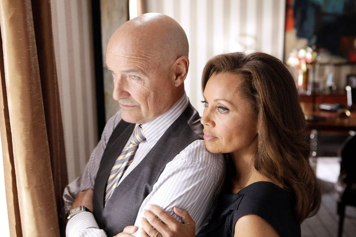 """** FILE ** This publicity file image released by ABC shows Vanessa Williams, right, and Terry O'Quinn in a scene from the ABC series, """"666 Park Avenue."""" ABC canceled two low-rated new TV series, """"Last Resort"""" and """"666 Park Avenue,"""" and didn't announce Friday, Nov. 16, 2012, what will replace the two series after they finish airing. (AP Photo/ABC, Patrick Harbron, File)"""